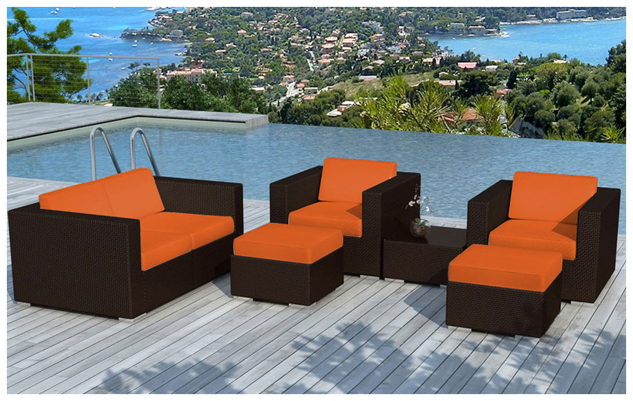 Beautiful Salon De Jardin Resine Coussin Orange Photos - Amazing ...