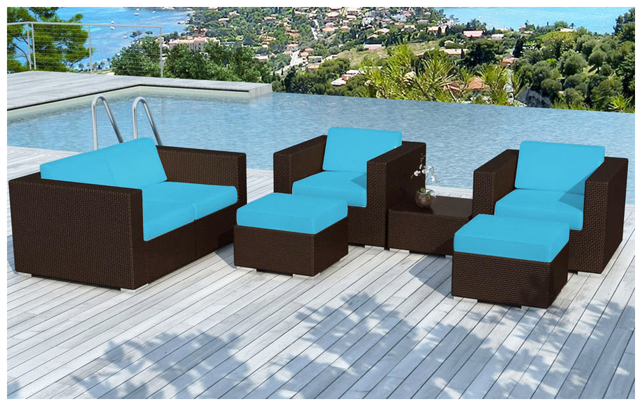 Salon de jardin canap fauteuils poufs piscine for Salon de la piscine