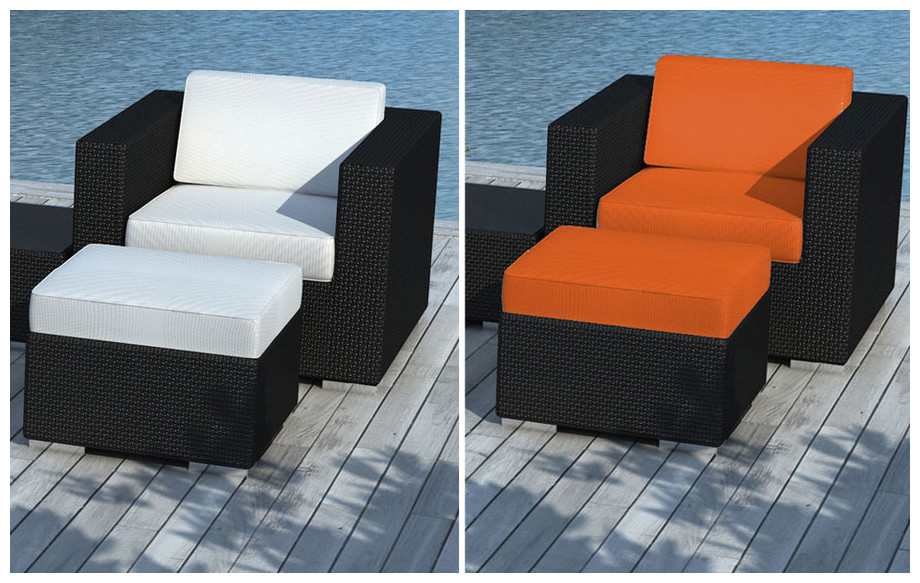 Salon de jardin Alhena orange | Jardin-Center.fr