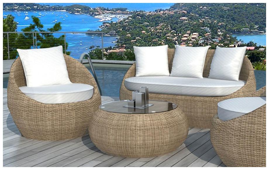 emejing salon de jardin en rotin blanc photos awesome interior home satellite. Black Bedroom Furniture Sets. Home Design Ideas