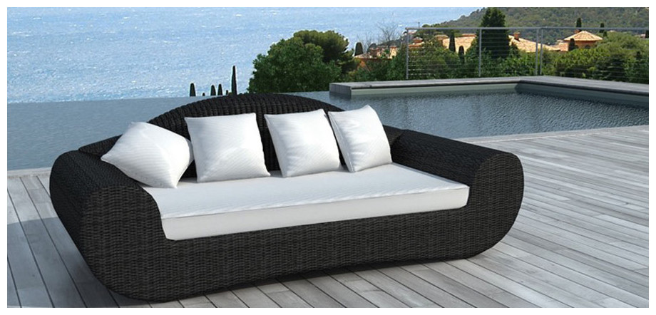 Besoin d 39 air canap ext rieur blanc cass 3 places for Coussin sofa exterieur