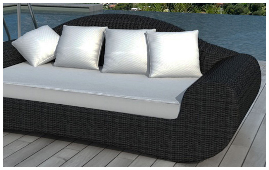 canap de jardin design en r sine noire jardin. Black Bedroom Furniture Sets. Home Design Ideas