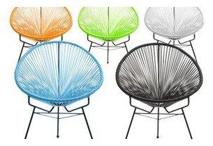 Siège Ou Fauteuil En Fils Tendus Design Style Vintage Jardin - Fauteuil de couleur design