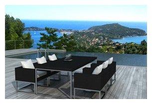 Table Et Chaises De Jardin Design En R Sine Noire Jardin
