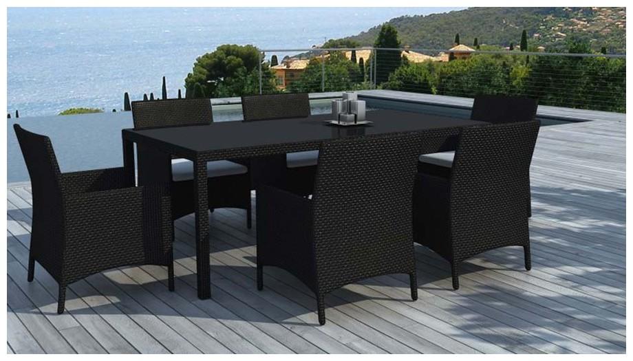 table et fauteuil hades noire