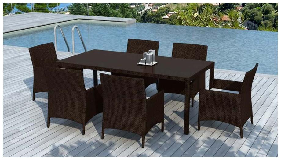 table et fauteuil hades resine chocolat