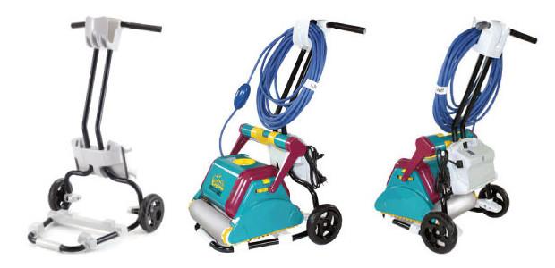 Robot de piscine Dolphin 2001 Wonderbrush  chariot modèle 2014