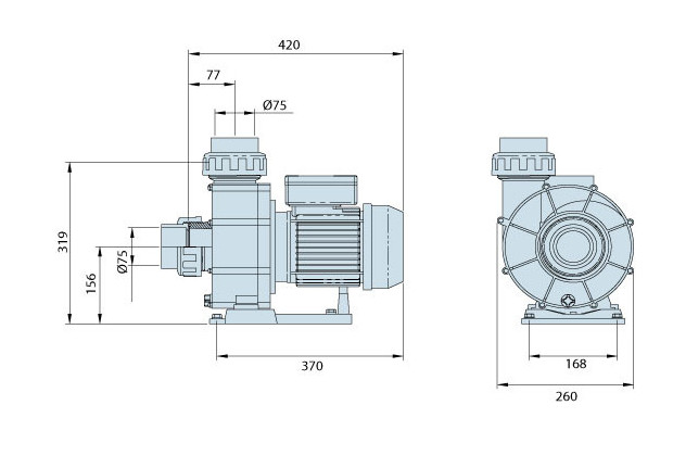 pompe centrifuge pour nage a contre