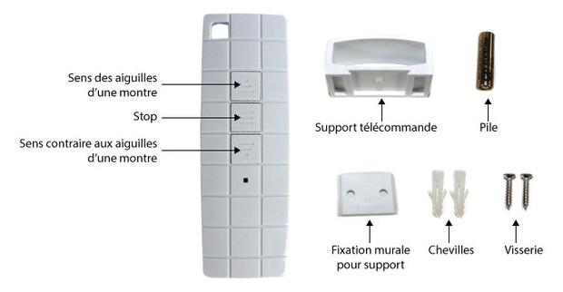 kit moteur pour enrouleur piscine - telecommande