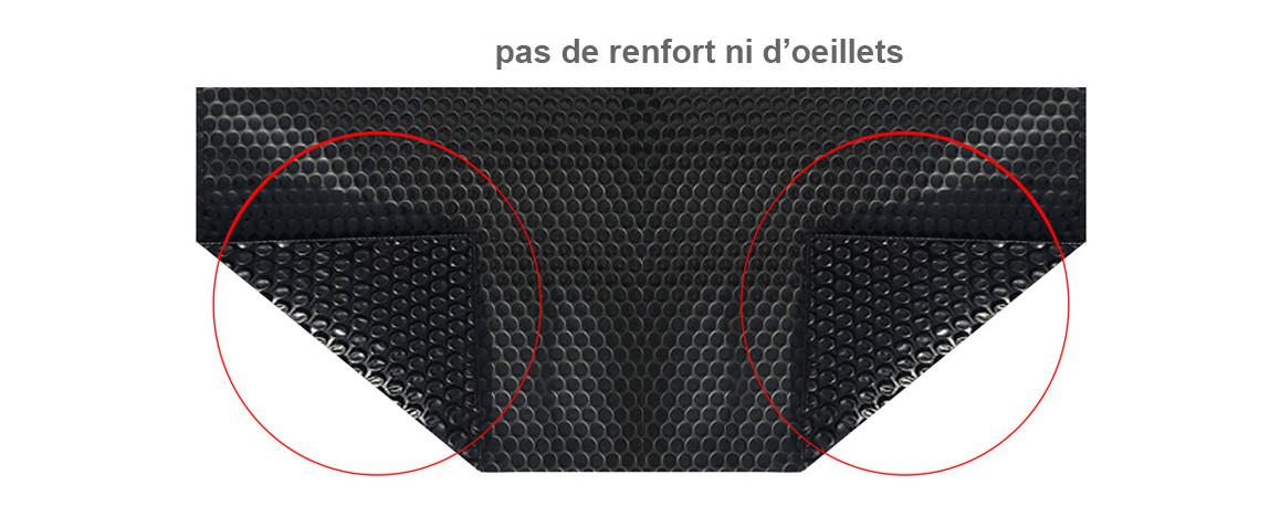 caractéristiques de la bâche solaire bleu 400 eco