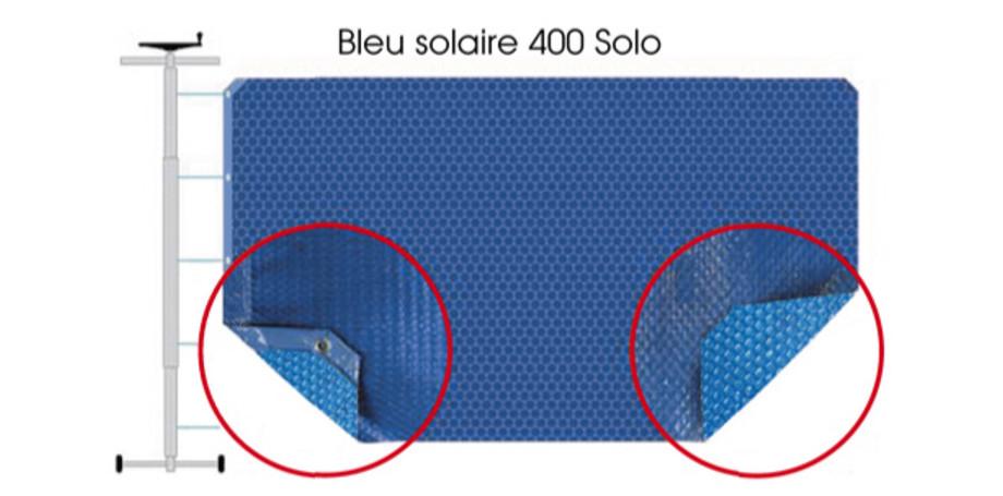 COUVERTURE A BULLES BLEU 400 DUOSOLO