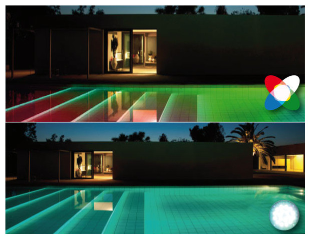 R novez votre clairage piscine leds adaptables niches for Ampoule projecteur piscine