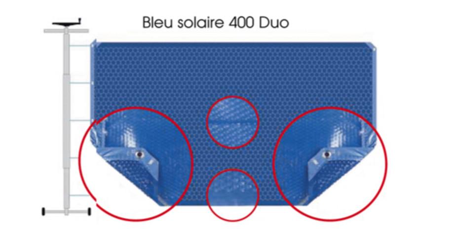 COUVERTURE A BULLES BLEU 400 DUO