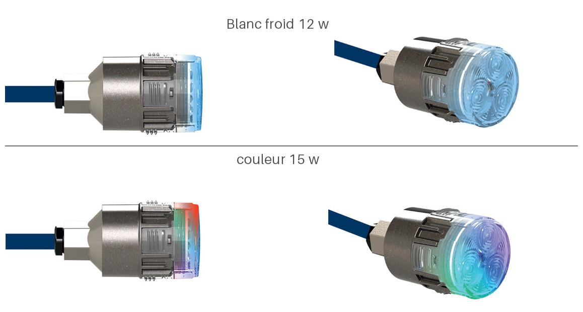 Mini-chroma : mini-projecteur LED à visser