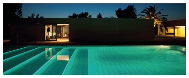 projecteur piscine LED ambiance