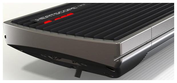 détail du chauffage d'extérieur heatscope