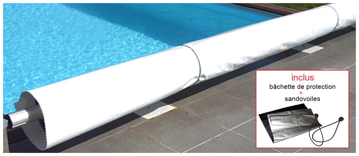 bâchette de protection pour bâche à bulles solaire