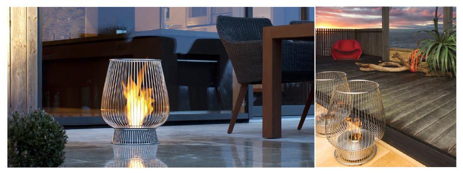 Bulb - cheminée de plein air au bio éthanol - ambiance 2