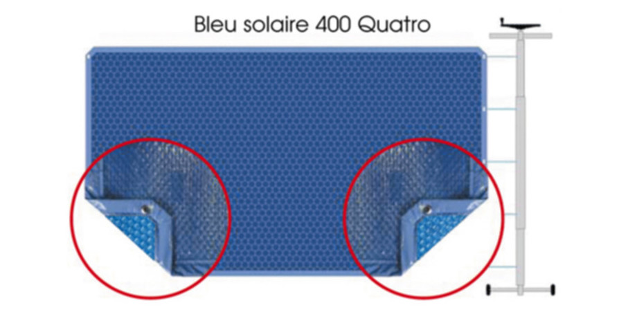 COUVERTURE A BULLES BLEU 400 QUATRO