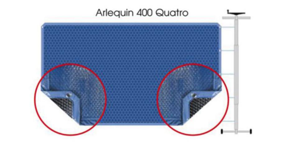 COUVERTURE A BULLES ARLEQUIN QUATRO