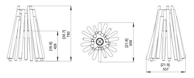 dimension de la cheminée d'exterieur au bioéthanol stix
