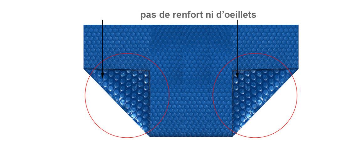 caractéristiques de la bâche bulles bleu 400 eco