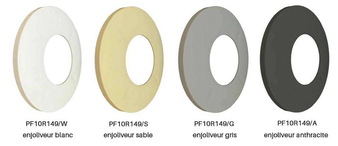 enjoliveur amovible chroma ccei pour projecteur led niche universelle par56