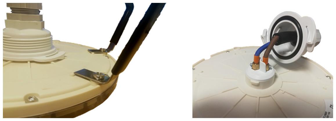 fixation du projecteur LED piscine PAR-56 pour niche universelle