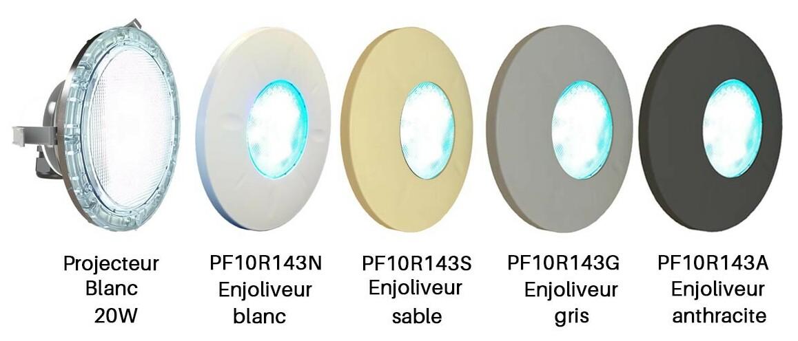 modèles de projecteurs led blanc par 56 pour niche universel