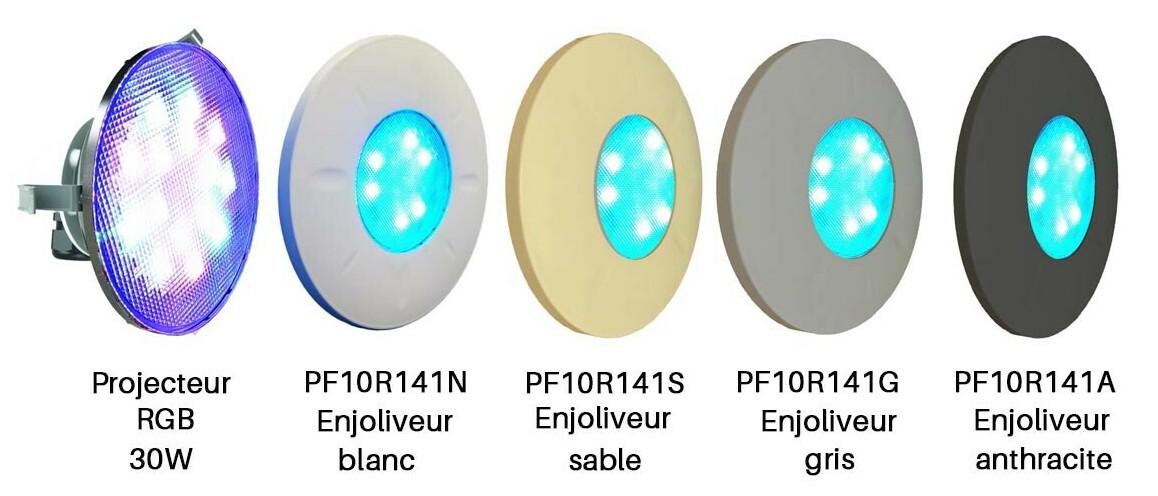 modèle de projecteurs led rgb par56 pour niche universelle