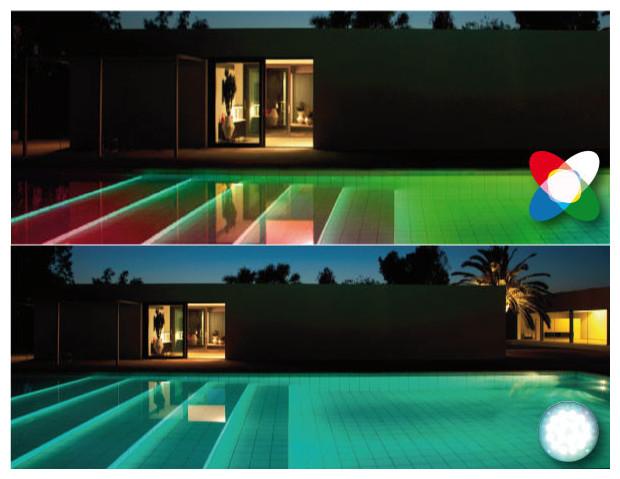 spot par 56 led universel pour un clairage piscine diff rend piscine center net. Black Bedroom Furniture Sets. Home Design Ideas