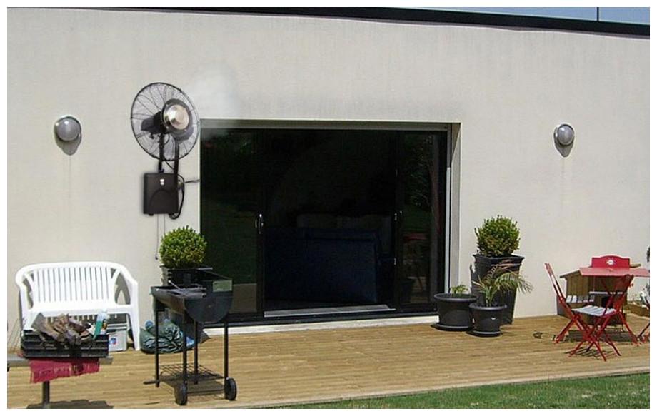 ventilateur brumisateur haute performance mural o fresh