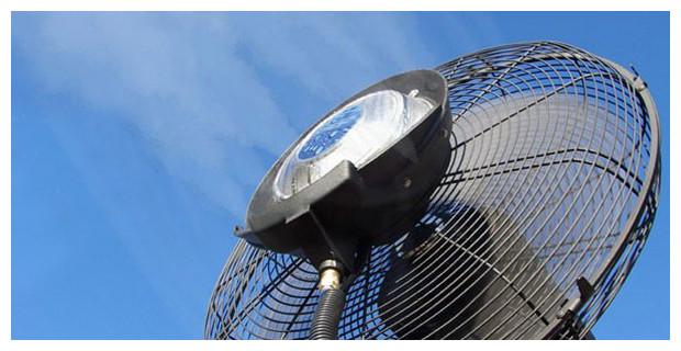 ventilateur mobile de brumisation r servoir de 24 l. Black Bedroom Furniture Sets. Home Design Ideas