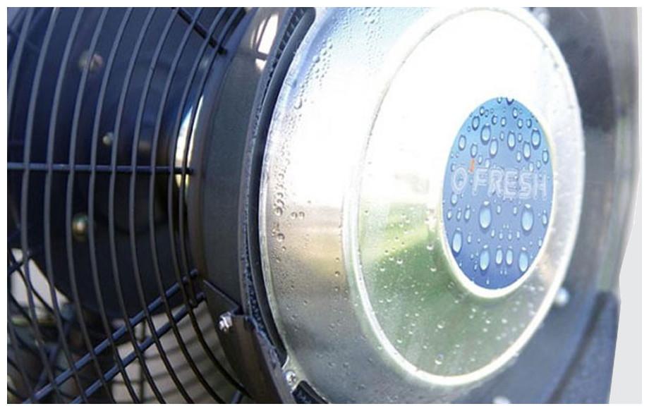 Ventilateur brumisateur d'intérieur OFresh 135 cm brume en situation