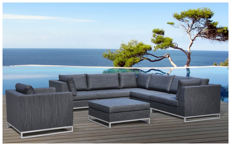 salon de jardin en tissus ol fine ibiza 7 places. Black Bedroom Furniture Sets. Home Design Ideas