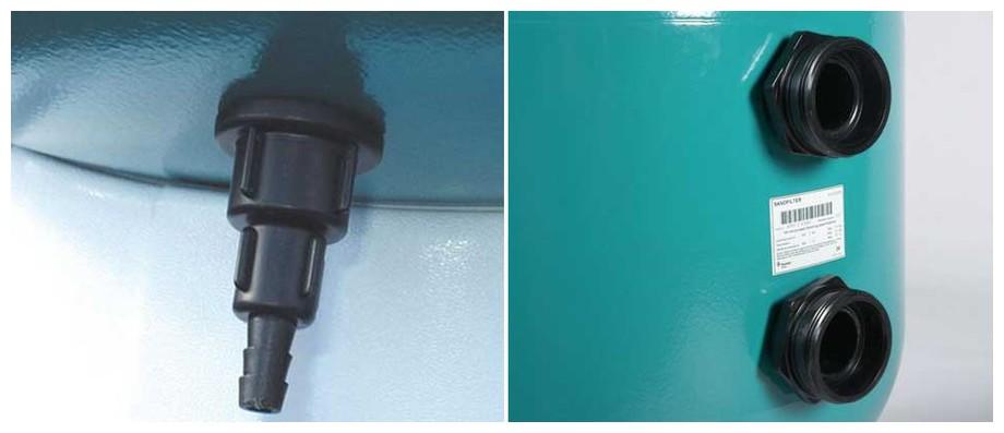 détails du filtre à sable pour piscine Triton en situation