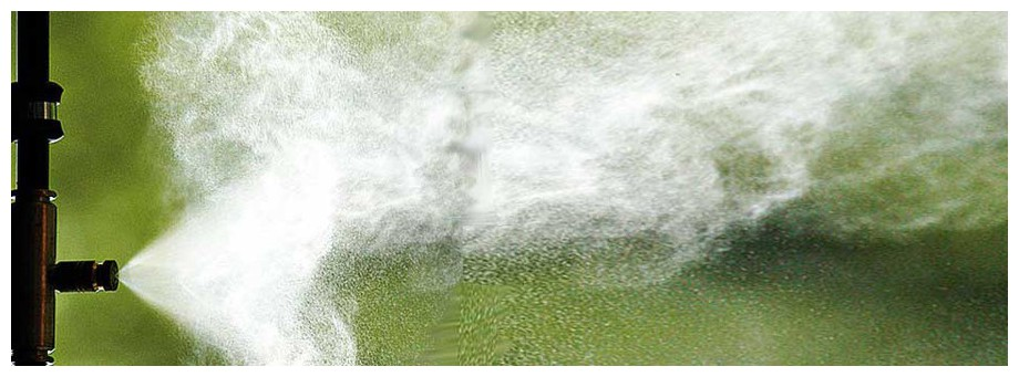 diffusion de la brume par le brumisateur haute pression Idrakool