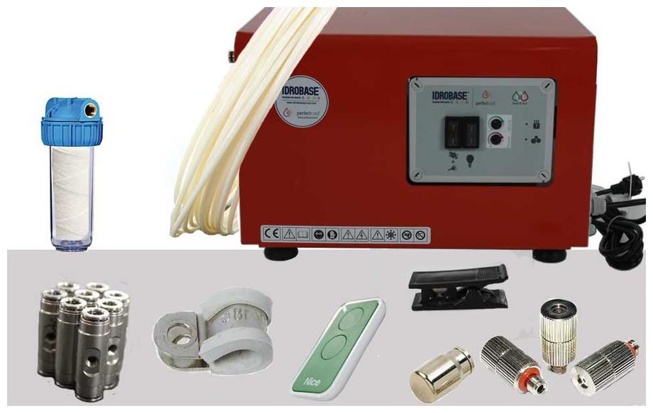 kit de montage du brumisateur haute pression Idrakool en situation