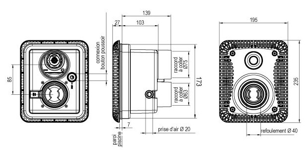 NCC béton/liner dimensions
