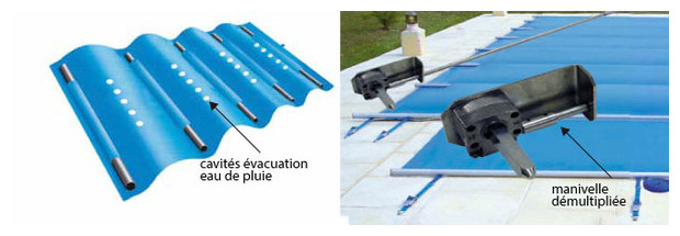 B che barre sp ciale piscines en altitude summum flex for Fabrication enrouleur bache piscine