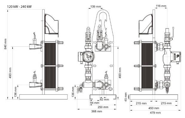 uranus echangeur pour piscine - 120 et 240 kW