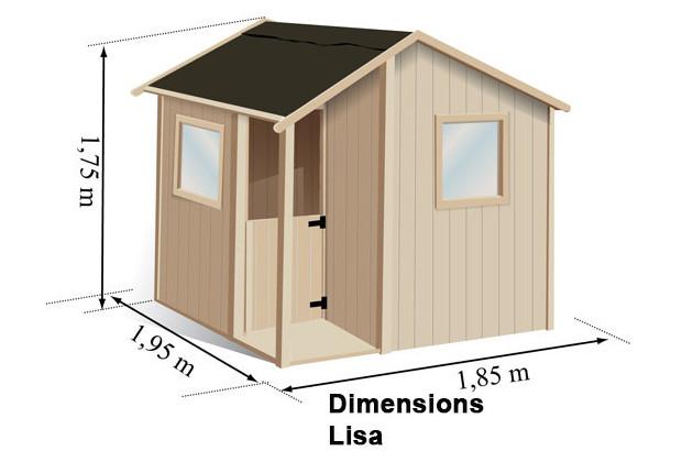 descriptif et dimensions maisonnette LISA