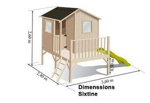 dimensions de la maisonnette Sixtine