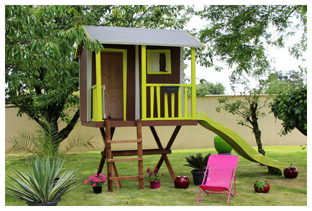 cabanes dans les arbres construire une cabane perch e la pause jardin cabane jardin dessin. Black Bedroom Furniture Sets. Home Design Ideas