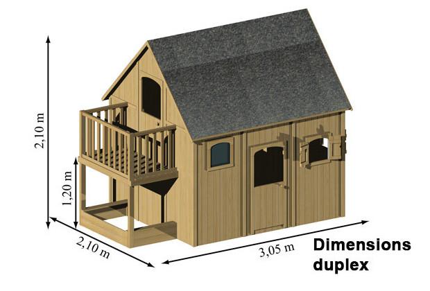 Dimensions maisonnette duplex