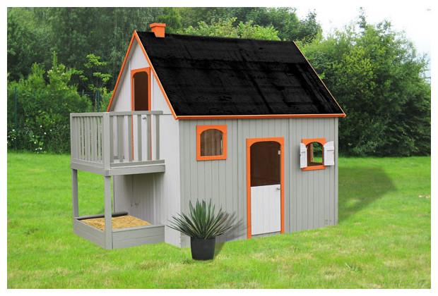duplex maisonnettes pour enfants jardin. Black Bedroom Furniture Sets. Home Design Ideas