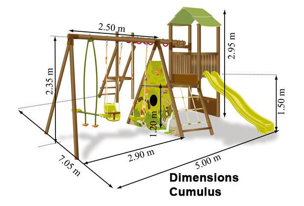 Aire De Jeux En Bois Pour Particulier - Aire de jeux CUMULUS pour enfants de 3à 12 ans La deuxi u00e8me balançoire Offerte Jardin Center fr