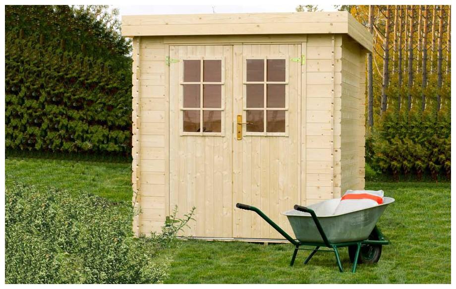 Détail de la toiture de l abri de jardin contemporain en bois Ontario Luoman en situation