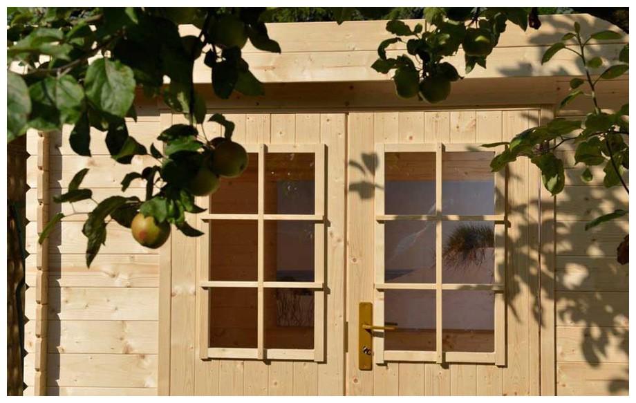 détail de la porte de l'abri de jardin en bois Ontario L
