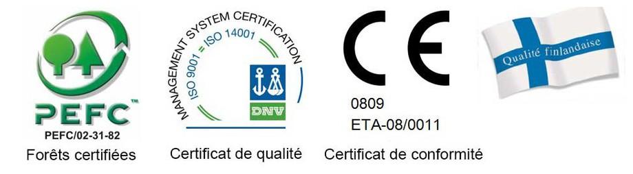 logo de qualité de l'abri en bois de jardin Nicaragua Luoman en situation